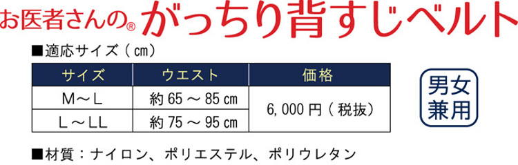 背筋ベルト価格表