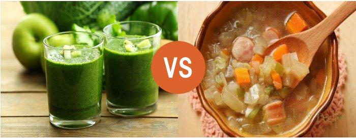 スムージーVS野菜スープ