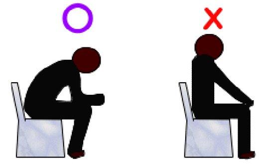 排便時の正しい姿勢