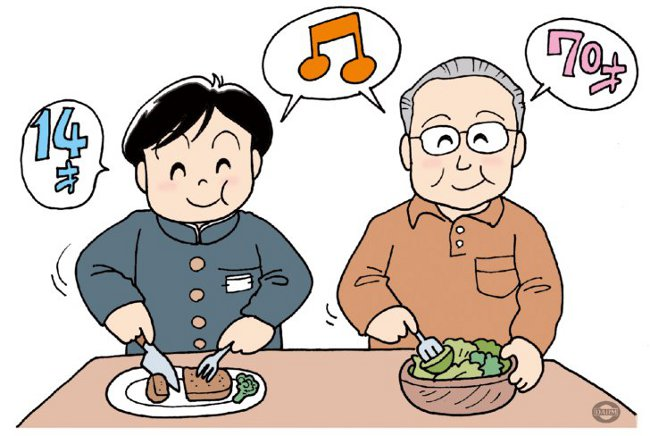 肉と野菜のバランス